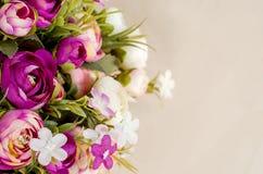 Konstgjord blommanärbild Arkivbild