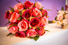 Konstgjord bukett av rosor Royaltyfria Foton