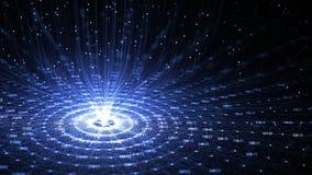 Konstgjord intelligens AI f?r teknologi och internet av f?r n?tverksanimering f?r saker IOT begreppet vektor illustrationer