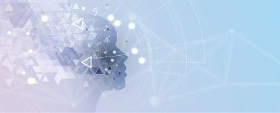 konstgjord intelligens Teknologirengöringsdukbakgrund Faktiskt conc