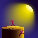 konstgjord lighting stock illustrationer