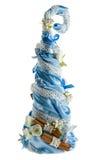 konstgjord maded tree för jul hand Fotografering för Bildbyråer