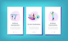 Konstgjord mall för reproduktionsappmanöverenhet stock illustrationer