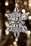 konstgjord silversnowflake Fotografering för Bildbyråer