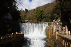 Konstgjord vattenfall i Abchazien nya Athos Arkivbild