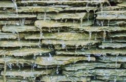 Konstgjord vattennedgång Arkivfoto