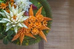 Konstgjorda blommor från grönsaken Royaltyfri Bild