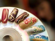 konstgjorda fingernails royaltyfri fotografi