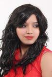 Konstgjorda hår för kvinnahårstilar royaltyfri foto