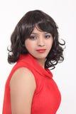 Konstgjorda hår för kvinnahårstilar fotografering för bildbyråer