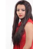 Konstgjorda hår för kvinnahårstilar arkivbild