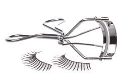 konstgjorda hårrulleögonfranser Arkivbild