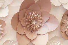 Konstgjorda pappers- blommor som göras av handen Härlig dekor Arkivbilder