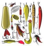 Konstgjort fiske lockar Arkivfoto