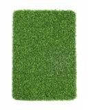 Konstgjort gräs som isoleras på vit bakgrund Fotografering för Bildbyråer