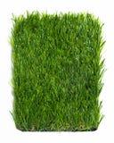 Konstgjort gräs som isoleras på vit bakgrund Royaltyfri Fotografi
