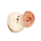 Konstgjort mänskligt öra för silikon med magnetiska lås Arkivbilder
