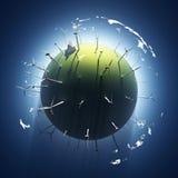 konstgjort planet Arkivbild