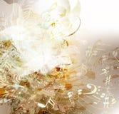 Konstgrungebakgrund på musiktema Royaltyfria Foton