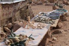 Konsthantverk på Petra, Jordanien Arkivbilder