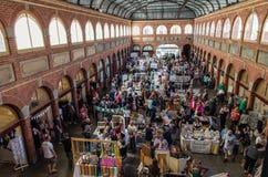 Konsthantverkmarknad i Ballarat som bryter utbyte Arkivfoton