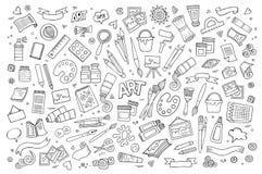 Konsthantverkvektorsymboler och objekt Royaltyfri Fotografi