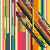 Konstig abstrakt värld fantasirik beställning royaltyfri illustrationer