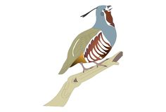 Konstig blå fågel 2 vektor illustrationer