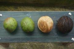 konstig frukt och guavafrukt royaltyfri fotografi
