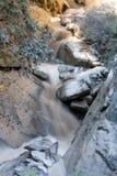 Konstig vattenfall i tigern som hoppar klyftan. Tibet. Kina. Fotografering för Bildbyråer