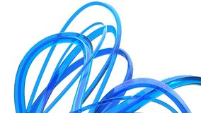 Konstiga blåa exponeringsglasstrukturer och svepar royaltyfri illustrationer