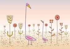 konstiga fåglar vektor illustrationer