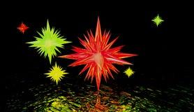 konstiga stjärnor Arkivfoto