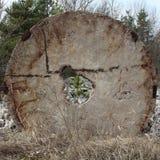 Konstigt fördärvar av stenkonstruktion Arkivbilder