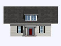 konstigt hus royaltyfri illustrationer