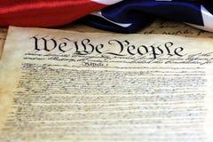 Konstitution av Förenta staterna - oss folket Arkivbild