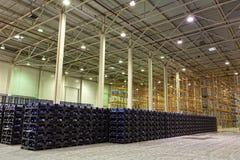 Konstitution der Lagerung von Fertigwaren an einer Fabrik lizenzfreies stockbild