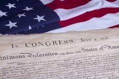 Konstitution des historischen Dokumenten-US Lizenzfreies Stockfoto