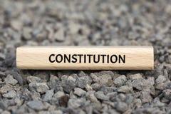KONSTITUTION - UNORDNUNG - Bild mit den Wörtern verbunden mit der Thema GEMEINSCHAFT VON WERTEN, Wort, Bild, Illustration lizenzfreie stockfotografie