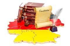 Konstitution von Deutschland-Konzept, Wiedergabe 3D Stockfotografie