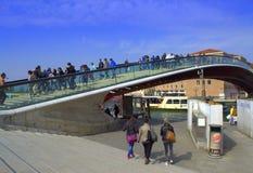 Konstitutionbro, Venedig Arkivfoton