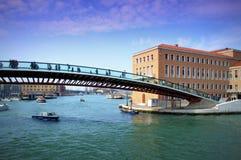 Konstitutionbro, Venedig, Italien Royaltyfri Bild