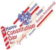 Konstitutions-Tag in Polen Lizenzfreies Stockfoto