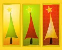 konstjulen fäster den lantliga treen ihop vektor illustrationer