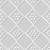 konstkontroll Diamond Cross Frame Dot Flower för vitbok 3D vektor illustrationer