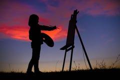 Konstmålare Arkivbilder