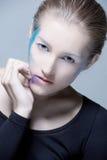 KONSTMakeupBlondie flicka Royaltyfri Bild