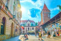Konstmarknaden i Krakow, Polen royaltyfri foto