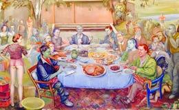 Konstmusemmålning Arkivbilder
