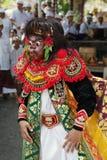 Konstnär av den traditionella Balineseteatern Topeng Royaltyfri Bild